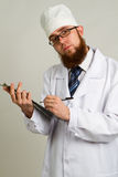 Doctor whit a clipboard Stock Image
