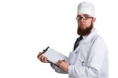 Doctor whit a clipboard Stock Photos