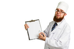Doctor whit a clipboard Royalty Free Stock Images