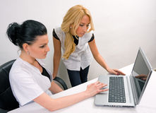 Doctor whit a laptop Royalty Free Stock Photo