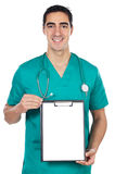 Doctor whit notepad Stock Image