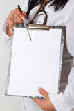 Doctor whit notepad Stock Photos