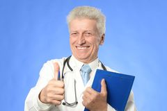 Doctor on white Stock Image