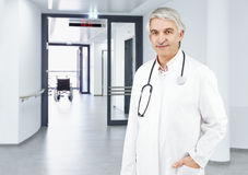 Doctor white background Stock Photography
