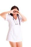 Doctor  on white background medical staff nurse Royalty Free Stock Photos