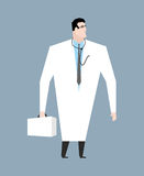 Doctor in white coat. Doc with stethoscope. Medical worker with Royalty Free Stock Photo