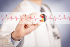 Doctor in white coat with a stethoscope Stock Image