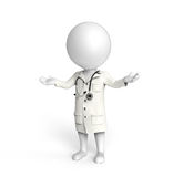 Doctor on white Royalty Free Stock Image