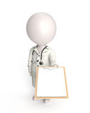 Doctor on white Stock Images