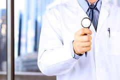 Doctor in white labcoat with stethoscope Royalty Free Stock Photos
