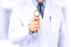 Doctor  in white labcoat with stethoscope Royalty Free Stock Image