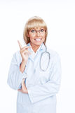 Doctor on white Royalty Free Stock Photography