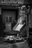 The doctor will see you next. A abandon hospital bed in a abandon insane asylum Royalty Free Stock Images