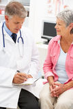 Doctor With Female Patient Royalty Free Stock Photography