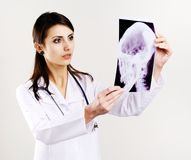 Free Doctor With X-ray Royalty Free Stock Image - 18047506