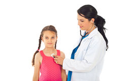 Doctor woman checkup girl patient Royalty Free Stock Image