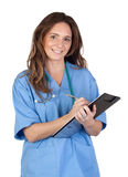 Doctor woman doing report Royalty Free Stock Photography