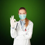 Doctor woman with electrocardiogram Royalty Free Stock Image