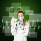 Doctor woman with electrocardiogram Stock Photo