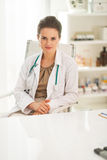 Doctor woman in her modern office Royalty Free Stock Photo