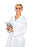 Doctor woman holding computer Stock Image
