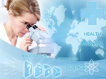 Doctor woman in laboratory. Stock Photography