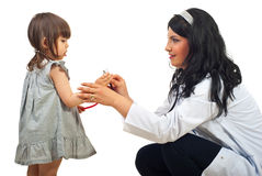 Doctor woman with little girl Stock Image