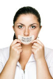 Doctor woman medical secrecy concept Stock Images