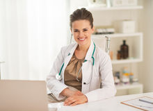Doctor woman in office Royalty Free Stock Photo