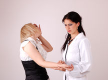 Doctor and woman patient Stock Photo