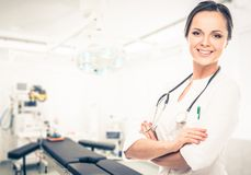 Doctor woman in surgery room Royalty Free Stock Photos