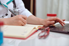 Doctor woman working in office Royalty Free Stock Photo