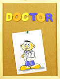 Doctor word on a corkboard Royalty Free Stock Photos