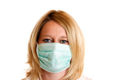 Doctor at work. Close-up of medical doctor with surgical mask prepared for operation Royalty Free Stock Photography