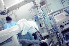 Doctor work in ICU Royalty Free Stock Image