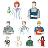 Doctor, worker, military, artist and other types of profession.Profession set collection icons in cartoon style vector Stock Images