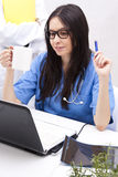 Doctor working Stock Image