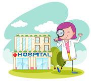 Doctor working at the hospital Royalty Free Stock Image