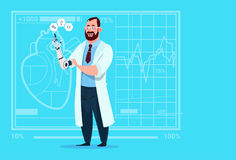 Doctor Working With Robotic Hand Artificial Limb Medical Clinics Worker Hospital Royalty Free Stock Photography
