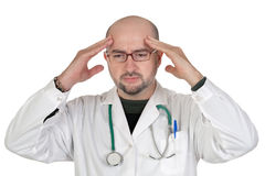 Doctor with worried gesture Stock Image