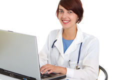 Doctor write medical reports Royalty Free Stock Photography