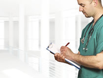 Doctor write note Royalty Free Stock Image