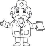 Doctor writes a prescription Stock Photo