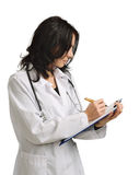 A doctor writing Stock Photo