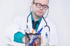 Doctor writing royalty free stock photos