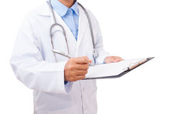 Doctor writing a medical prescription Royalty Free Stock Photography