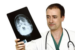 Doctor and x-ray Royalty Free Stock Photos