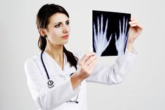 Doctor with x-ray Royalty Free Stock Image