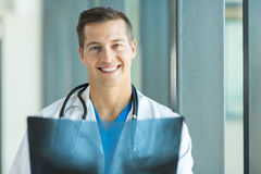 Doctor with x ray Stock Photography