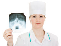 Doctor X-ray study Stock Photo